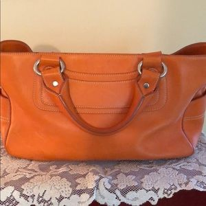 Celine Orange Leather Tote - Pre Owned.